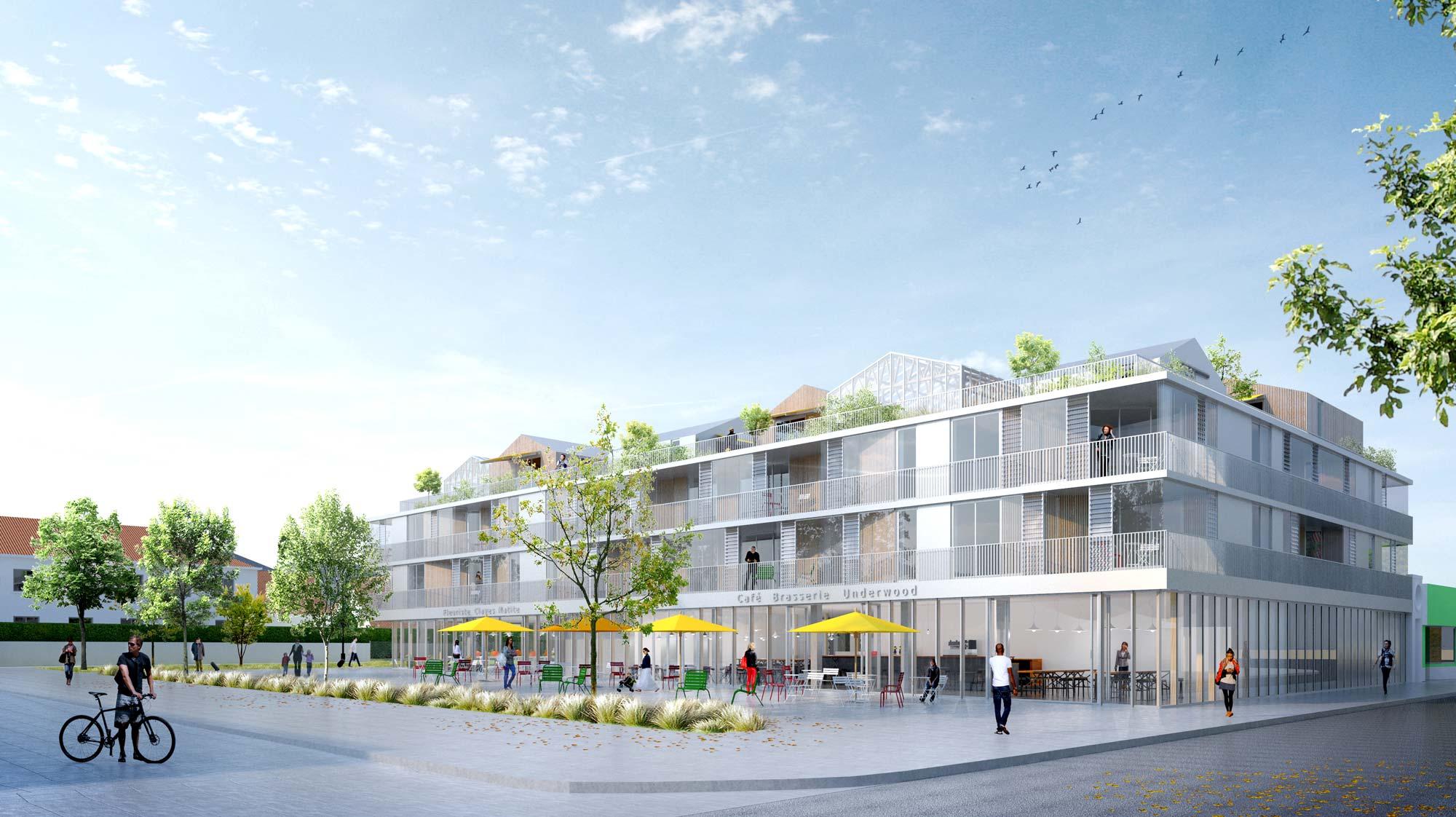 Maison Les Clayes Sous Bois halles les clayes-sous-bois - berranger & vincent - architectes